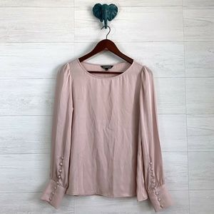 Express Small Blush Pink Satin Look Blouse